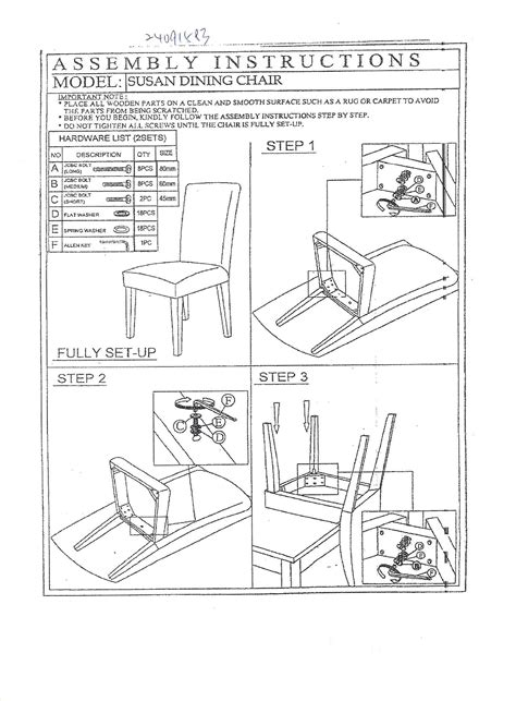 Chair Manual by Assembly