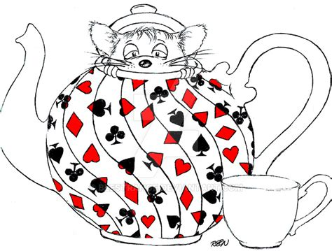 In Dormouse Drawing by Dormouse In A Teapot By Blestrange On Deviantart