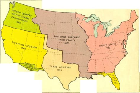 map of the united states during westward expansion united states westward expansion map