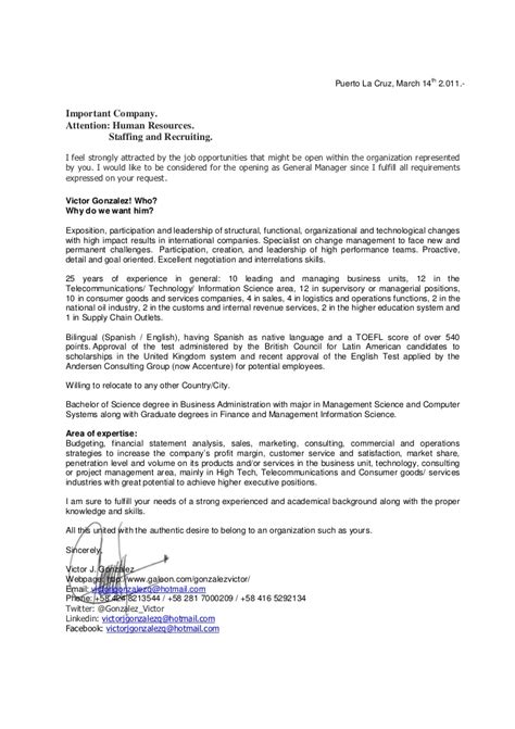 Letter For Corporate Presentation Victor Gonzalez Professional Presentation Letter