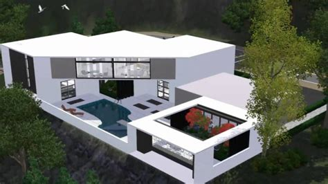 unique modern sims 3 house plans new home plans design