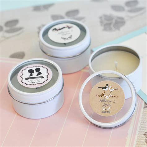 personalized candle wedding favors vintage wedding personalized candle tins