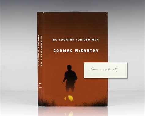 no country for old men cormac mccarthy 1st edition no country for old men cormac mccarthy first edition signed
