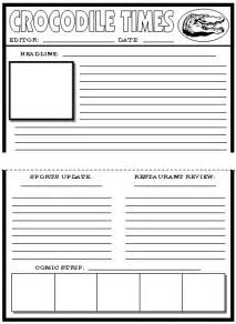 Free Printable Newspaper Template For Students by Newspaper Article Template For Printable