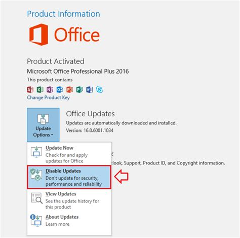 Microsoft Office Updates Top 3 Methods To Disable Automatic Updates In Office 2016