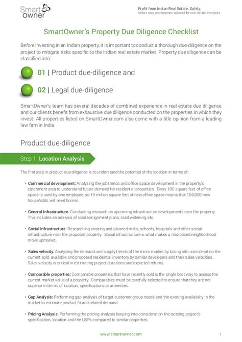 Building Technical Due Diligence Report Template smartowner s 72 point real estate due diligence checklist