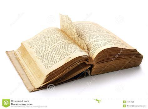 libro in the time of il libro aperto antico con una pagina ha strappato fuori fotografia stock immagine di storia
