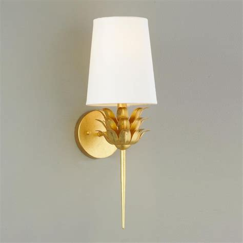 Gold Sconces Fresh Picked Wall Sconce Available In 2 Colors Gold Leaf