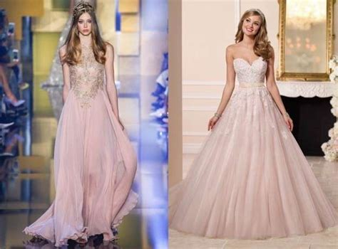 imagenes de vestidos de novia romanticos vestidos de novia rosas 2016 los m 225 s rom 225 nticos fotos