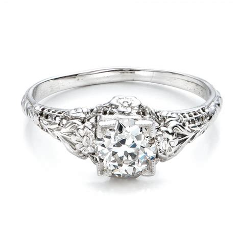 Estate Engagement Rings by Estate Solitaire Deco Engagement Ring 100898