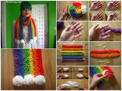 how to make a finger knit scarf wider finger knitted scarf tutorial diy cozy home