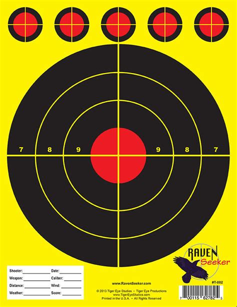 printable shooting target sheets quot 100 quot quality range paper shooting targets limited