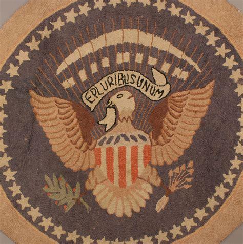 presidential seal rug lot 477 presidential seal hooked rug