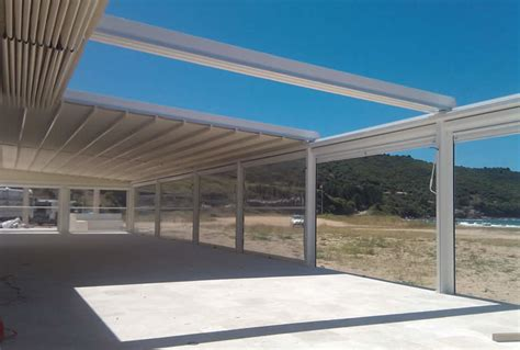 Retractable Motorized Awnings Retractable Roof Pergolas Made For The Sun And Shade