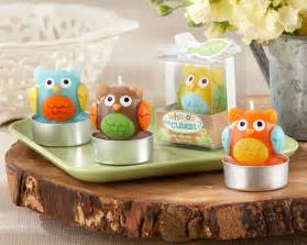 Owl Baby Shower Supplies by Owl Baby Shower Candle Favors Owl Baby Shower Favors Owl
