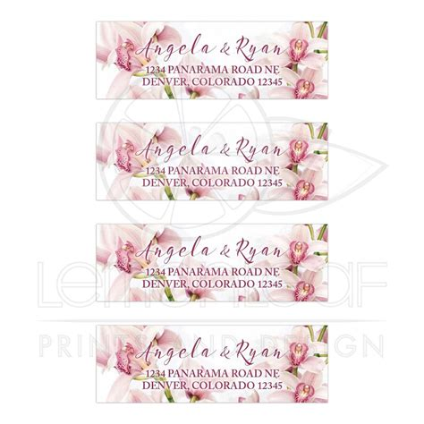 Wedding Address Labels by Orchid Wedding Address Labels Pink Burgundy