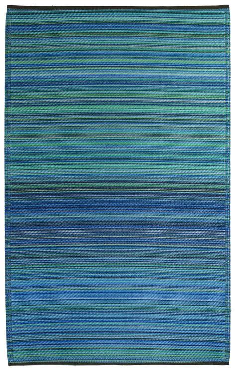 teppiche outdoor garten im quadrat outdoor teppich cancun streifen blau