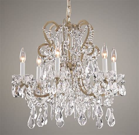 Baby Chandelier Manor Court 6 Arm Chandelier Aged Gold