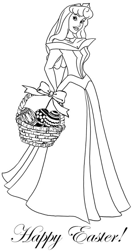 Easter Princess Coloring Pages | princess coloring pages