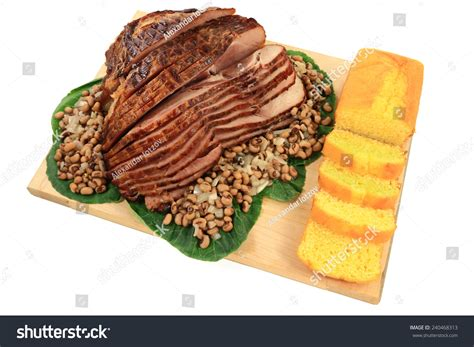 served american south tradition new years day meal stock american south traditional new years day meal spiral cut