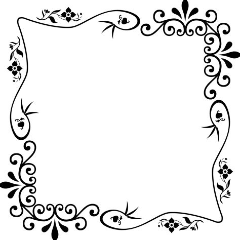 black and white border cards template decorative vintage style frame 16 icons png free png and