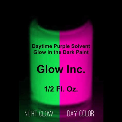 glow in the paint glow inc daytime purple solvent paint glow inc