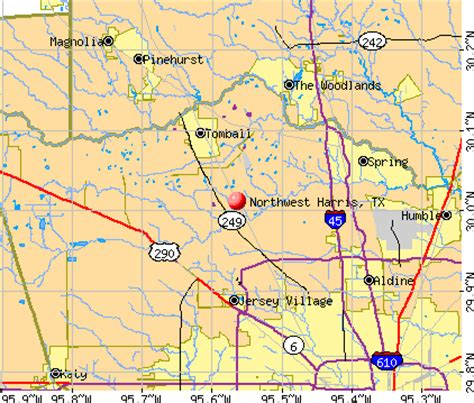 northwest texas map northwest harris texas tx 77070 profile population maps real estate averages homes