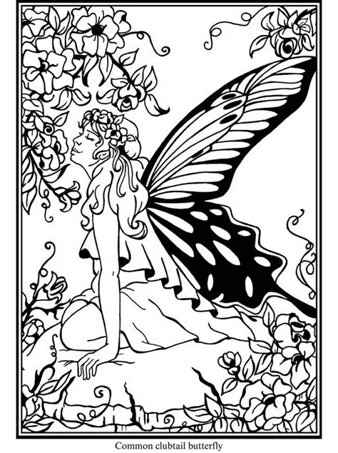 welcome to dover publications butterfly fairies stained