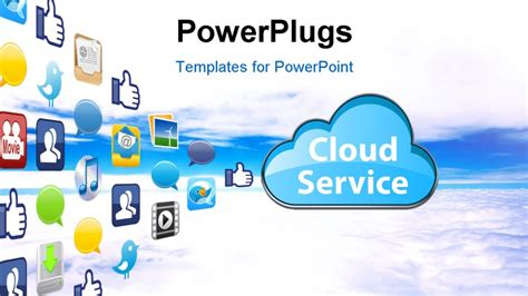 Powerpoint Cloud Background Cloud Template For Powerpoint