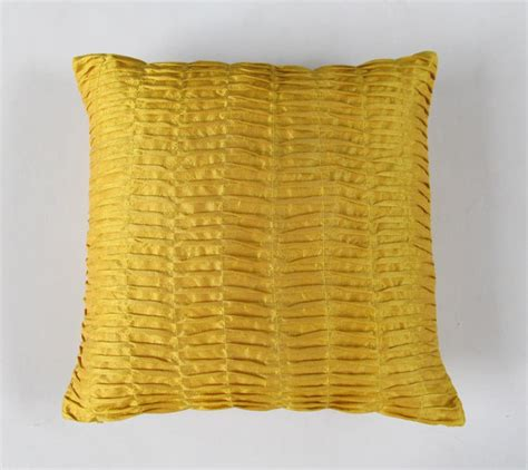 Mustard Yellow Pillow by Mustard Yellow Pillow Pintuck Pillow Pleated Textured Cover