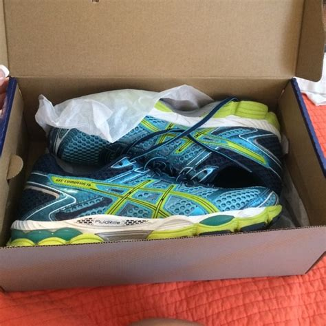 multi colored tennis shoes asics shoes multicolored blue tennis poshmark