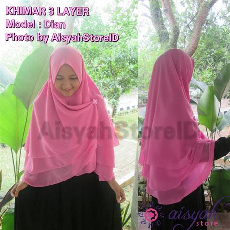 Instan Layer Tali jual khimar 2 layer nemo