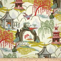 robert allen home decor fabric robert allen home neo toile coral fabric coral asian