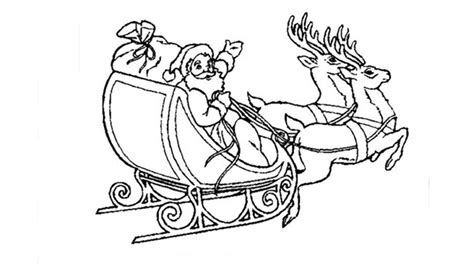 coloring page of santa in his sleigh search results for santa sleigh colouring calendar 2015