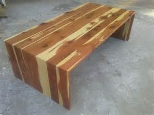 Industrial Chic Coffee Table Custom Cedar Waterfall Coffee Table By Tpt Cal