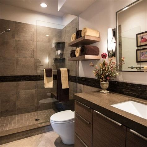 modern bathroom colors brown color shades chic bathroom