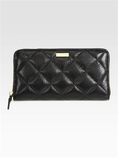 Kate Spade Quilted Wallet by Kate Spade Quilted Zip Around Wallet In Black Lyst