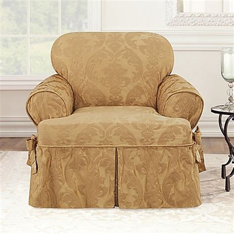 t cushion chair slipcovers sure fit 174 matelasse damask t cushion chair slipcover bed