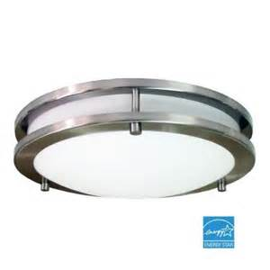 hton bay light fixtures hton bay flaxmere 1 light brushed nickel flushmount