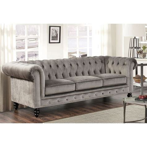 grey chesterfield sofa best 25 grey velvet sofa ideas on gray velvet