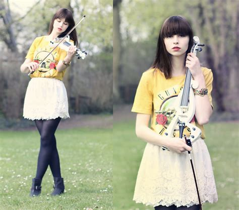 Violin Giveaway - paris london chic wish skirt romwe shirt i love my violin giveaway lookbook