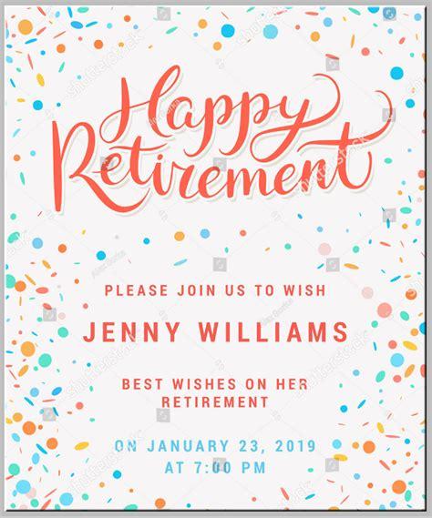 retirement invitation designs templates psd ai