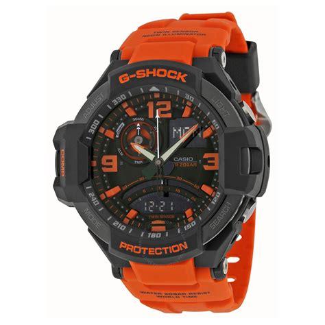 casio g shock aviation black and orange s