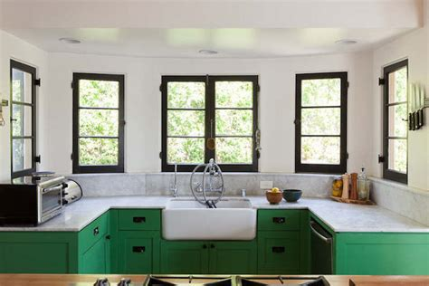 Green Cabinets In Kitchen Green Cabinets Eclectic Kitchen Bestor Architecture