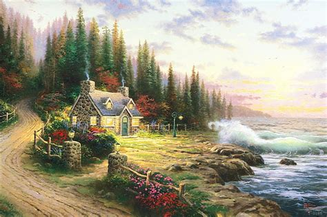 kinkade cottage paintings get cheap jesus paintings aliexpress alibaba
