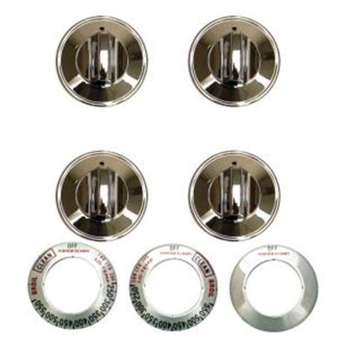 Gas Range Knobs Replacement by Range Kleen Gas Replacement Knob In Chrome 4 Pack 8224