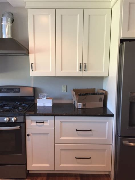 kitchen cabinets too high upper cabinet pulls hung too high change or leave as is