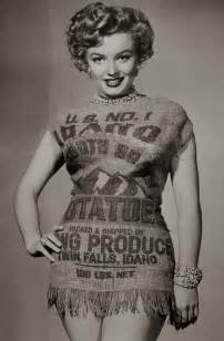 the story of marilyn monroe and the potato sack dress c