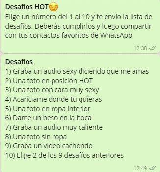preguntas hot para hombres whatsapp desafios juegos para whatsapp