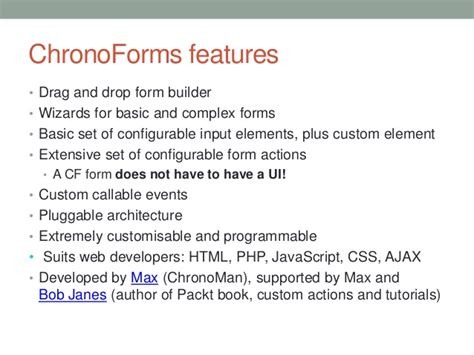 Forms Drag Drop Form Builder V3 4 0 build joomla 3 0 business apps with chronoforms